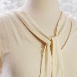 Modcloth self tie sleeveless blouse